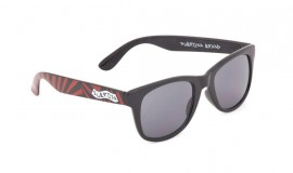 Subrosa Party Shades sunglasses BLACK / RED