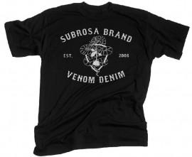 Subrosa Venom Denim t-shirt BLACK