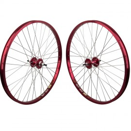 "26""x1.75"" Sealed Bearing Sun Rhynolite Alloy Wheelset RED"