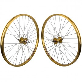 "26""x1.75"" Sealed Bearing Sun Rhynolite Alloy Wheelset GOLD"