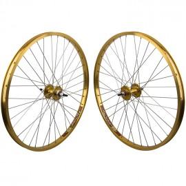 "26""x1.75"" Sealed Bearing Sun Rhynolite Alloy Wheelset GOLD"