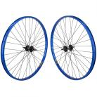 "29"" Sun Rynolite XL wheelset w/ High flange hubs BLUE / BLACK"