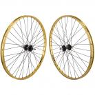 "29"" Sun Rynolite XL wheelset w/ High flange hubs GOLD / BLACK"