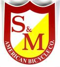 S&M Bikes BIG shield logo sticker