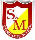 S&M Bikes BIG shield logo sticker