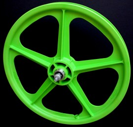 "GREEN 20"" Skyway TUFF WHEEL II SET- Freewheel"