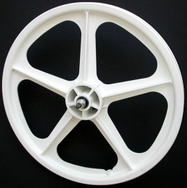"WHITE 20"" Skyway TUFF WHEEL II SET- Freewheel"