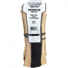 """20"""" Vee Speedster tire BLACK w/ TAN skinwall IN SIZES"""