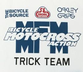 BMX Action Trick Team T-shirt WHITE