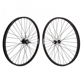 "26"" alloy Weinmann 7X wheelset w/ Coaster Brake hub BLACK rims / BLACK parts"