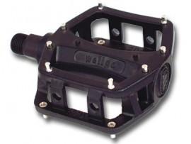 Wellgo Mini alloy Platform pedals w/ Removable Pins BLACK