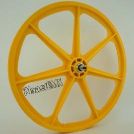 """YELLOW 24"""" Skyway TUFF WHEEL SET- Freewheel"""