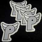 """Profile Racing """"Flying-P"""" decal SILVER"""