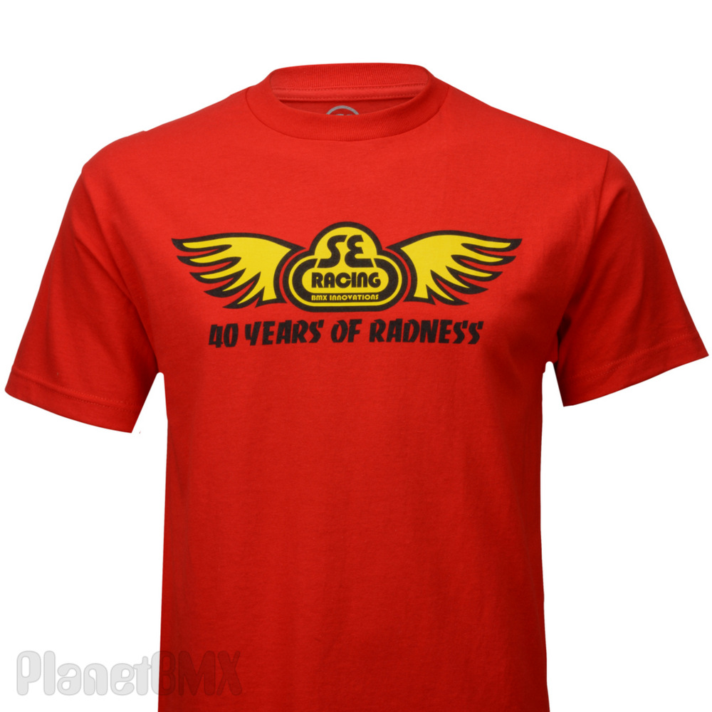 se racing quotwing logoquot tshirt red planet bmx
