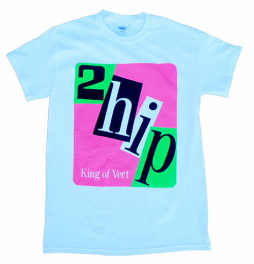2 Hip Original T Shirt WHITE Adult Small
