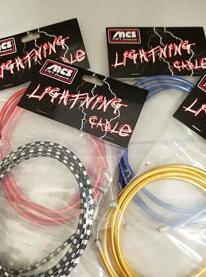 MCS Chrome Lightning gold brake cable