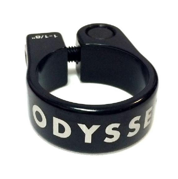 "Odyssey Slim Seat Post Clamp 1-1//8/"" Black"