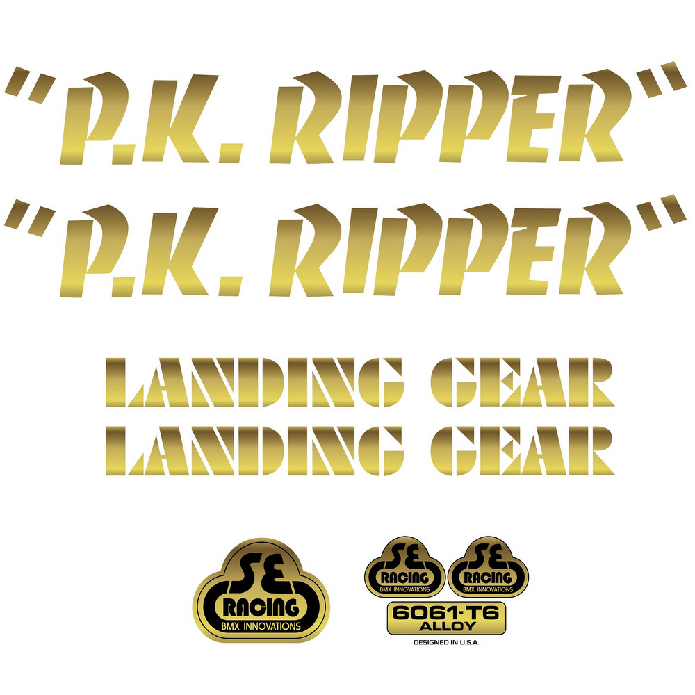 Se bikes Decal Sets PK Ripper Gold