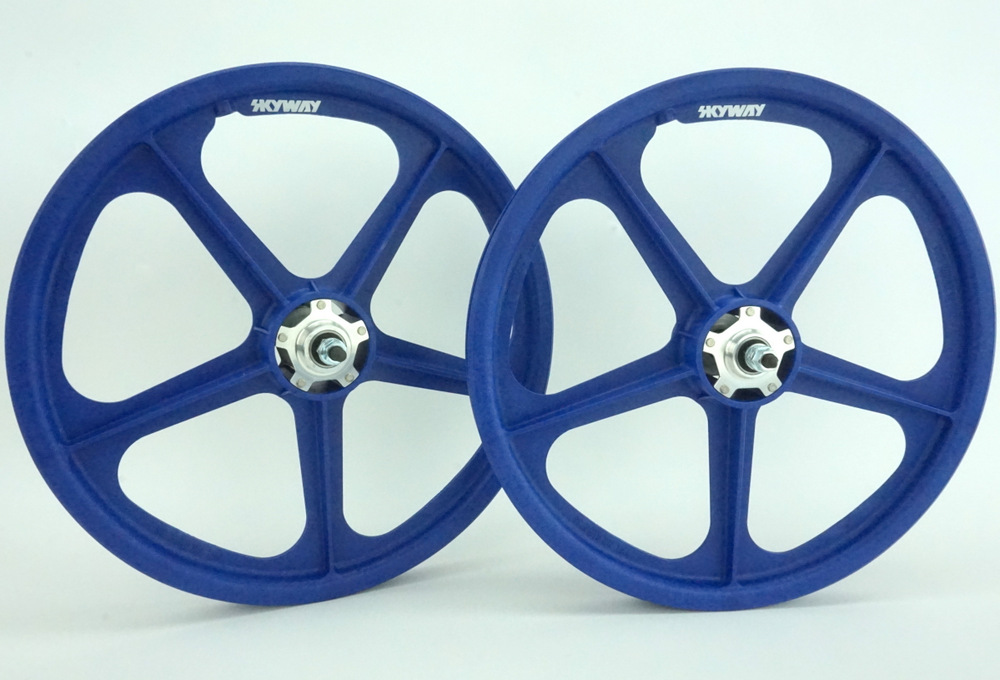 "Skyway tuff 2 II wheels black white freewheel  Pair fits Old School BMX 20/"" 3//8"
